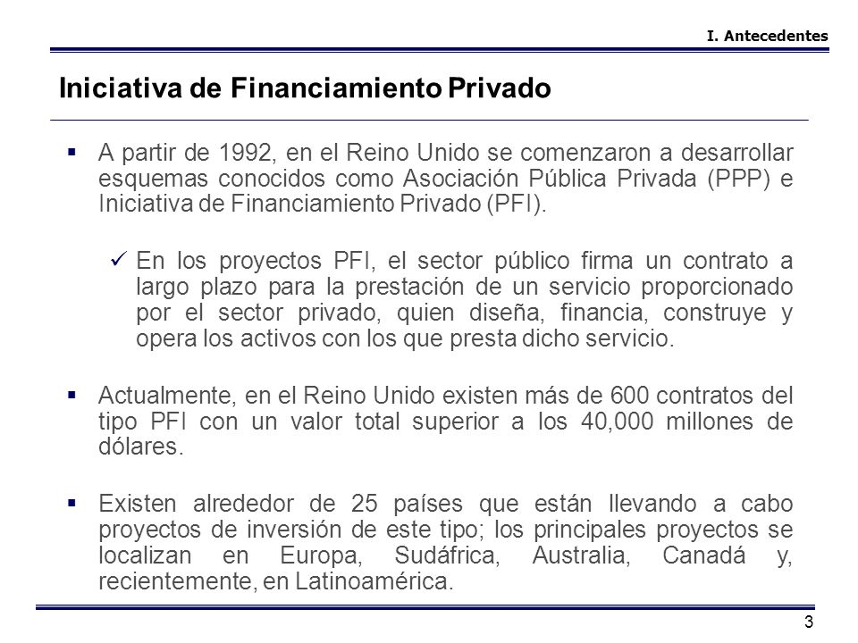 Iniciativa de Financiamiento Privado