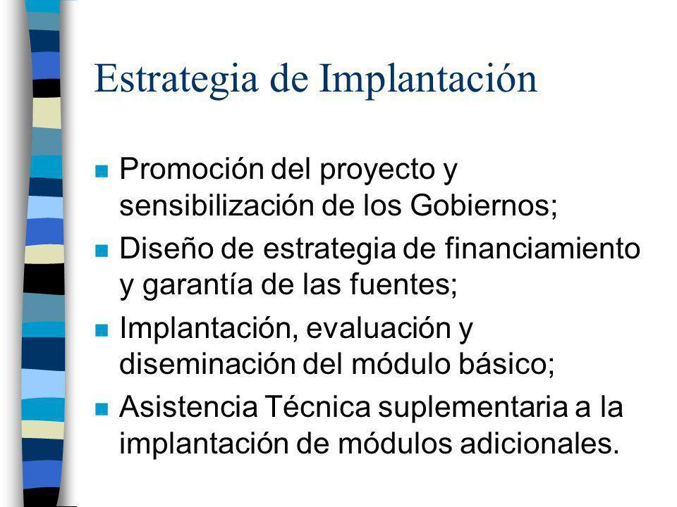 Estrategia de Implantación