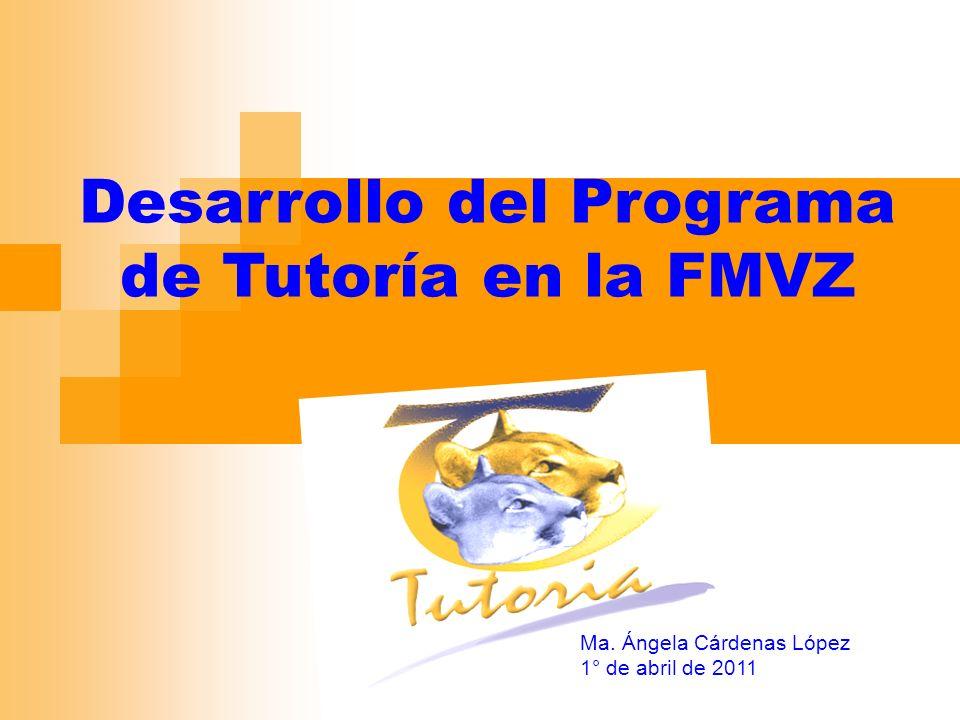 Desarrollo del Programa de Tutoría en la FMVZ