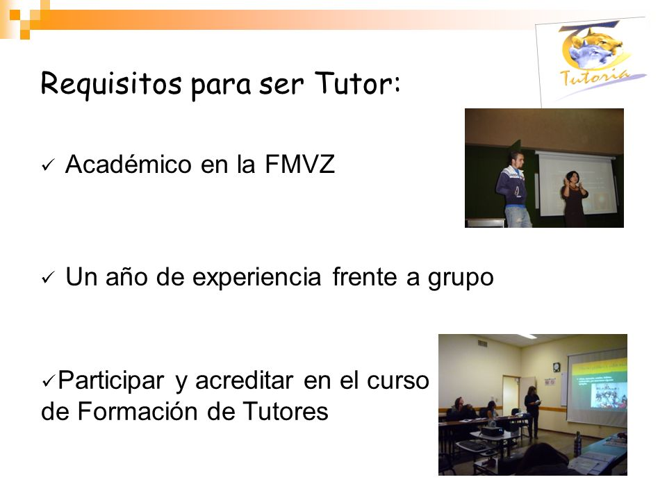 Requisitos para ser Tutor: