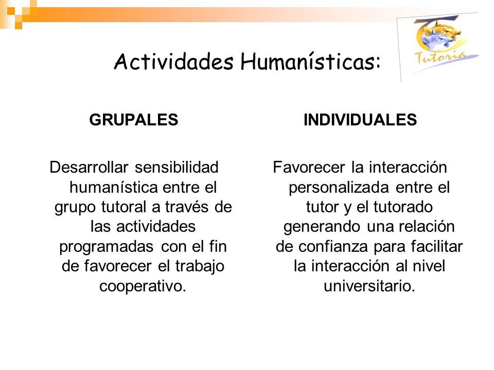 Actividades Humanísticas: