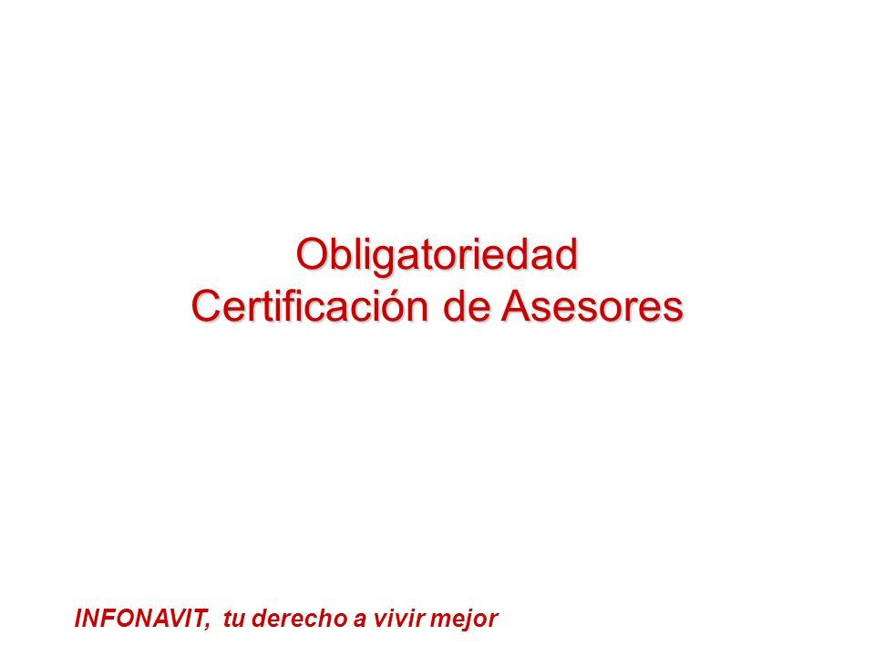 Obligatoriedad Certificación de Asesores