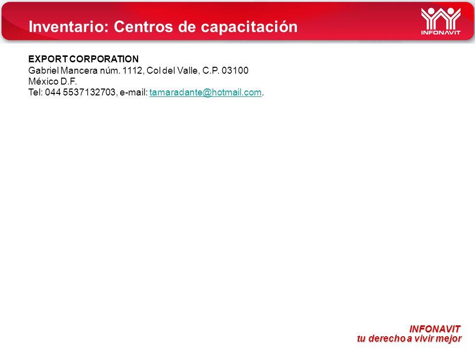 Inventario: Centros de capacitación