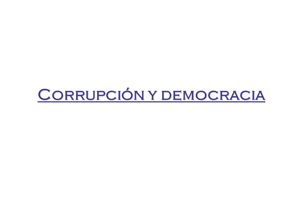 Corrupción y democracia