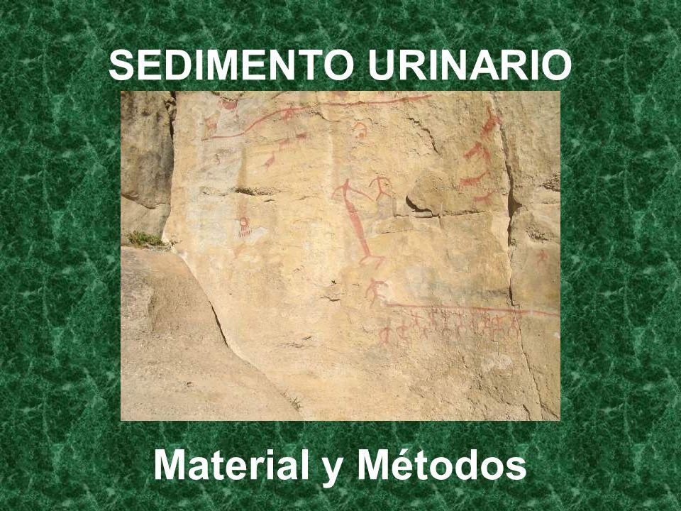 SEDIMENTO URINARIO Material y Métodos