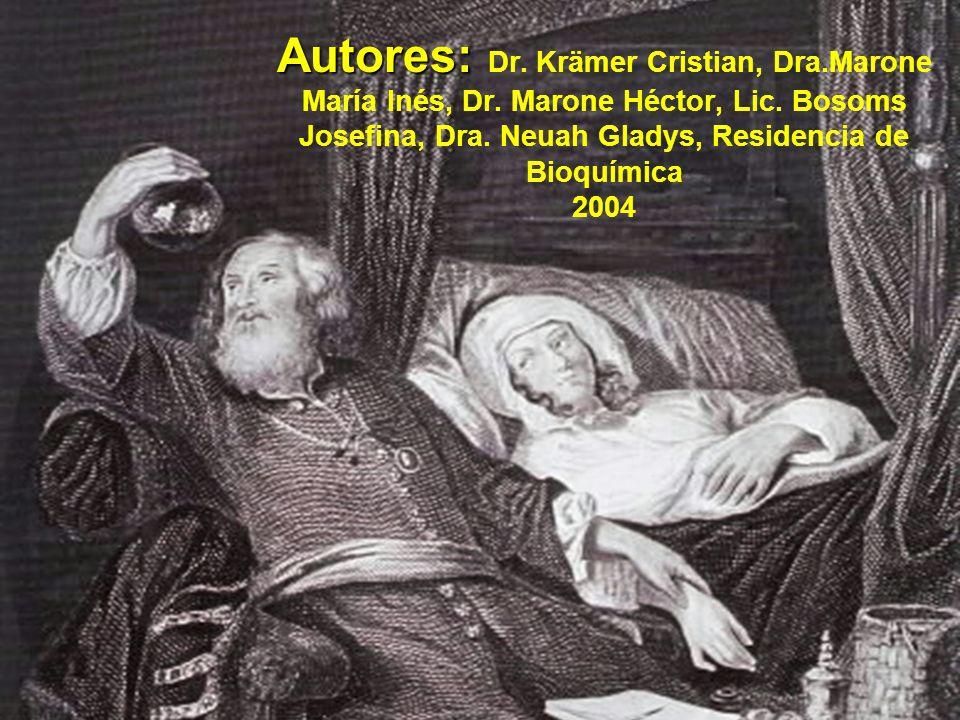 Autores: Dr. Krämer Cristian, Dra. Marone María Inés, Dr