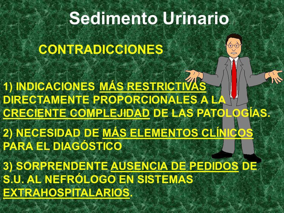 Sedimento Urinario CONTRADICCIONES