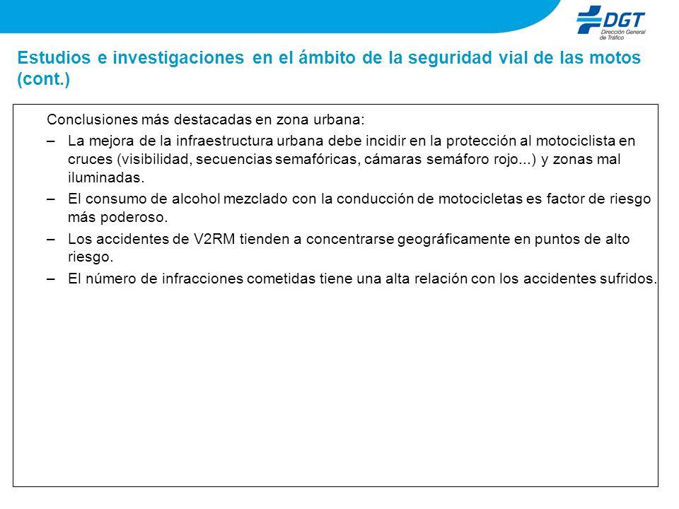 Estudios e investigaciones en el ámbito de la seguridad vial de las motos (cont.)