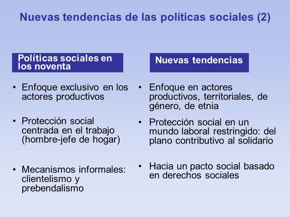 Nuevas tendencias de las políticas sociales (2)