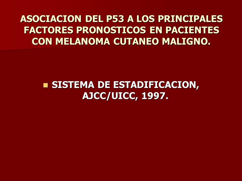 SISTEMA DE ESTADIFICACION, AJCC/UICC, 1997.