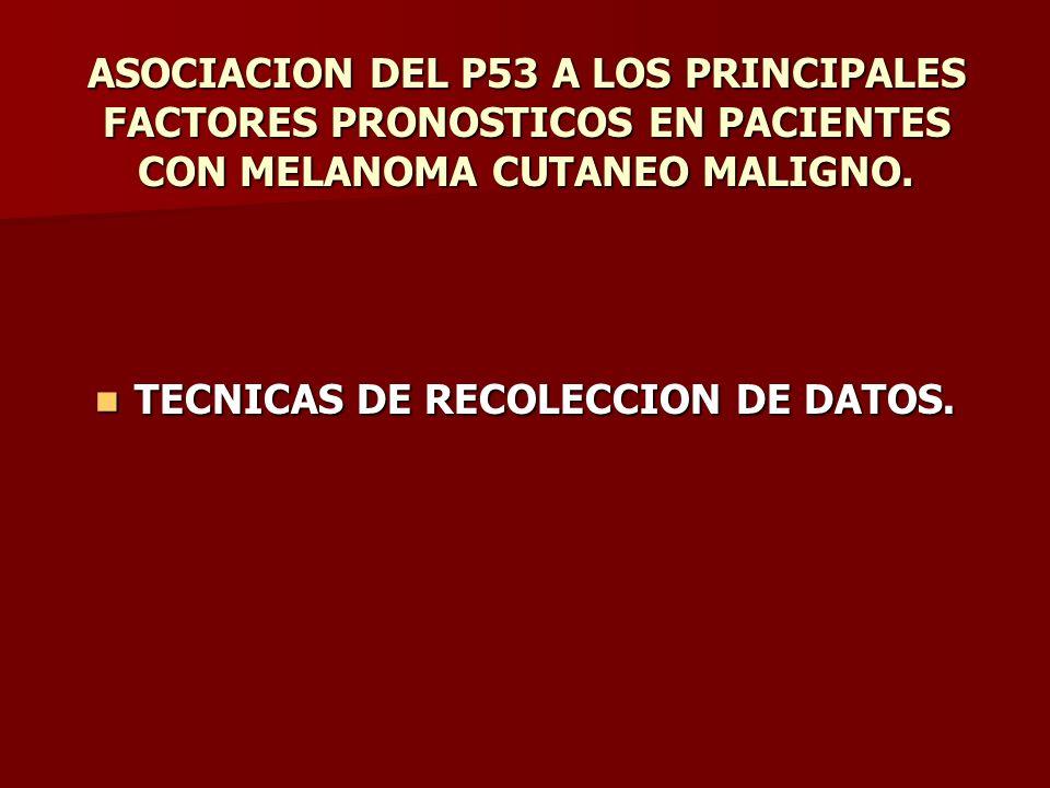 TECNICAS DE RECOLECCION DE DATOS.