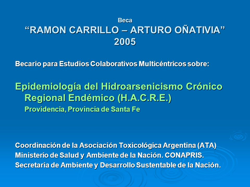 Beca RAMON CARRILLO – ARTURO OÑATIVIA 2005