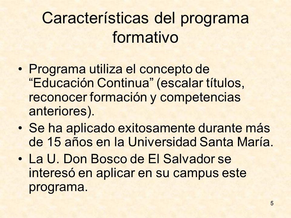Características del programa formativo