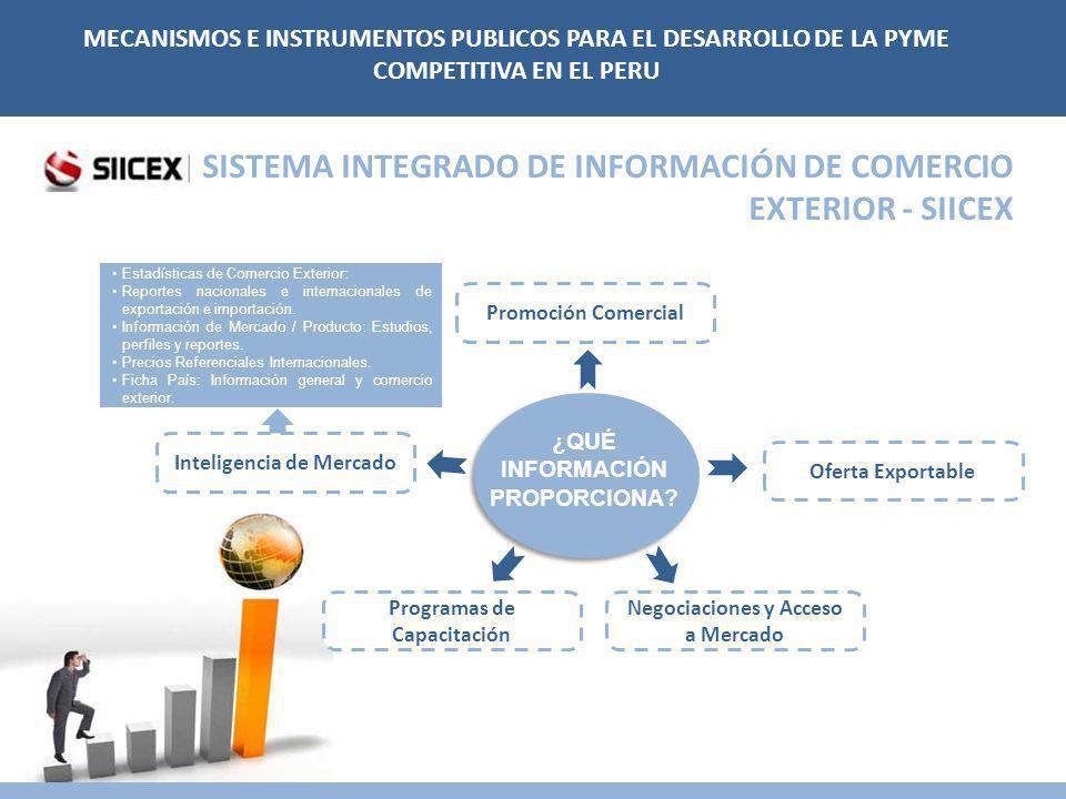 SISTEMA INTEGRADO DE INFORMACIÓN DE COMERCIO EXTERIOR - SIICEX