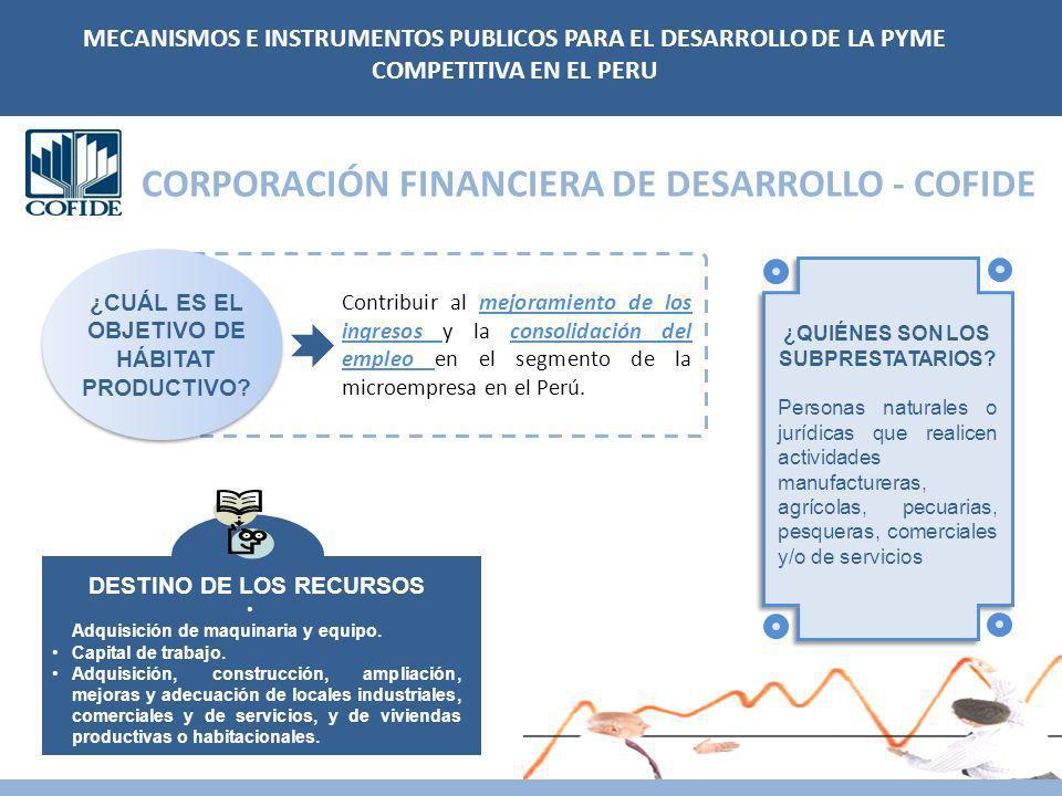 CORPORACIÓN FINANCIERA DE DESARROLLO - COFIDE