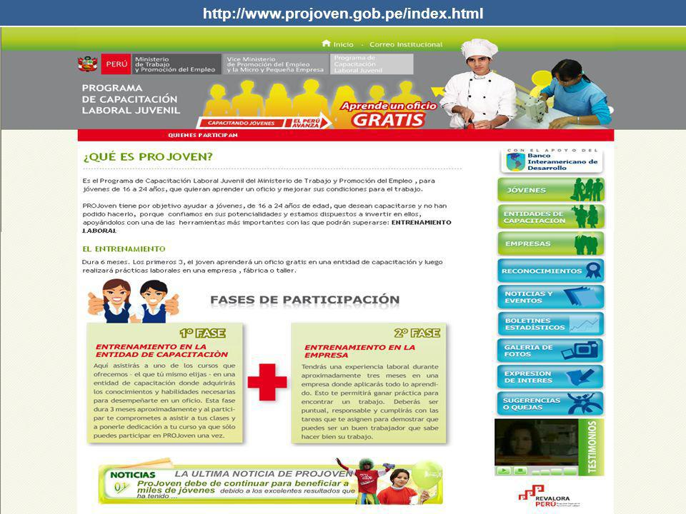 http://www.projoven.gob.pe/index.html