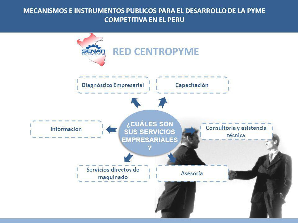 MECANISMOS E INSTRUMENTOS PUBLICOS PARA EL DESARROLLO DE LA PYME COMPETITIVA EN EL PERU