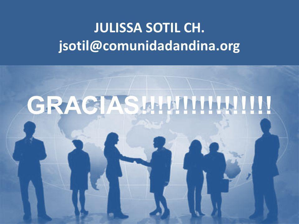 JULISSA SOTIL CH. jsotil@comunidadandina.org