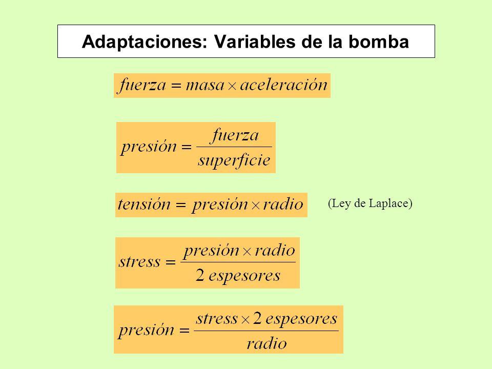 Adaptaciones: Variables de la bomba