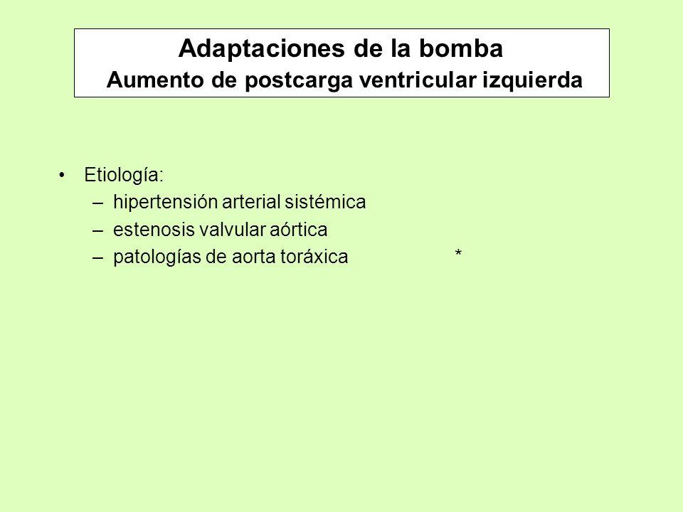 Adaptaciones de la bomba Aumento de postcarga ventricular izquierda