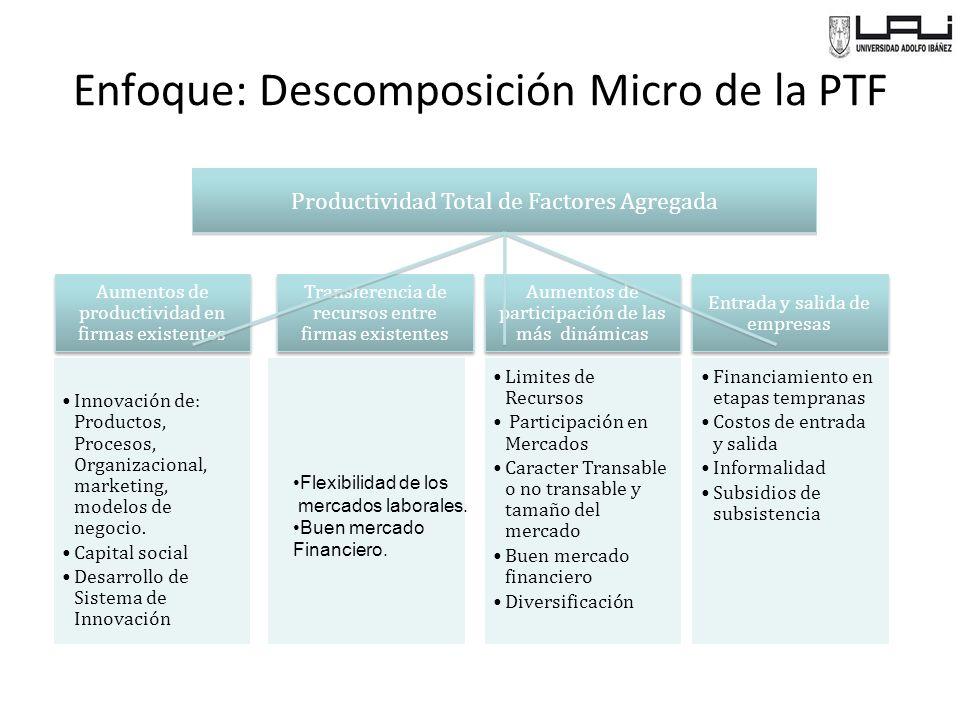 Enfoque: Descomposición Micro de la PTF
