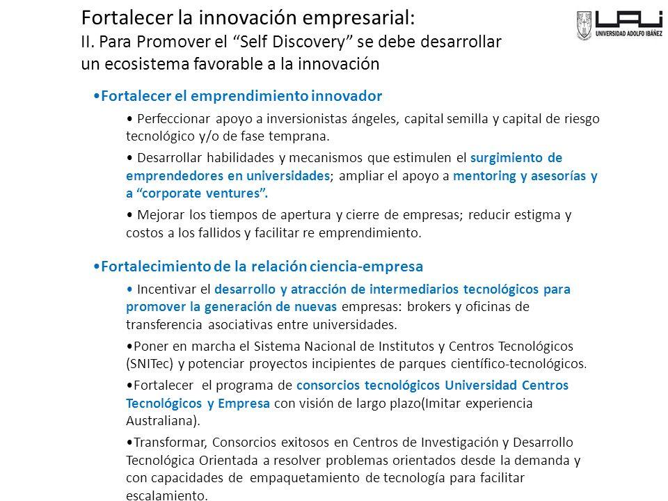 Fortalecer la innovación empresarial:
