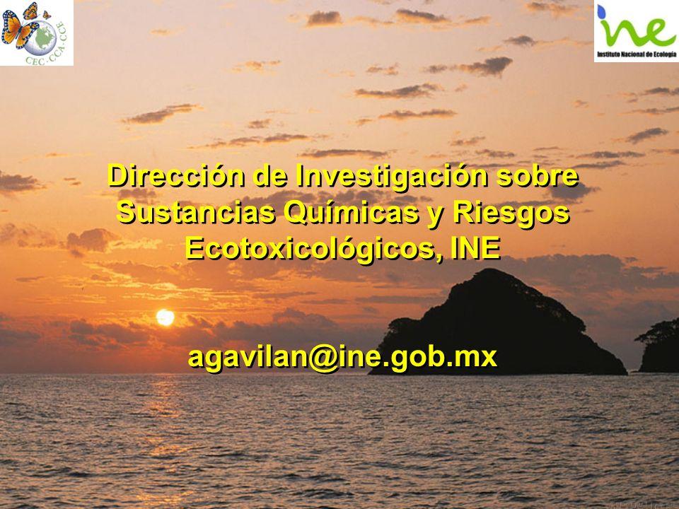 Dirección de Investigación sobre Sustancias Químicas y Riesgos Ecotoxicológicos, INE