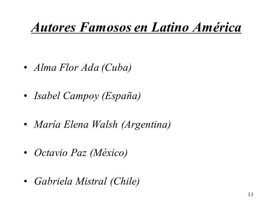 Autores Famosos en Latino América