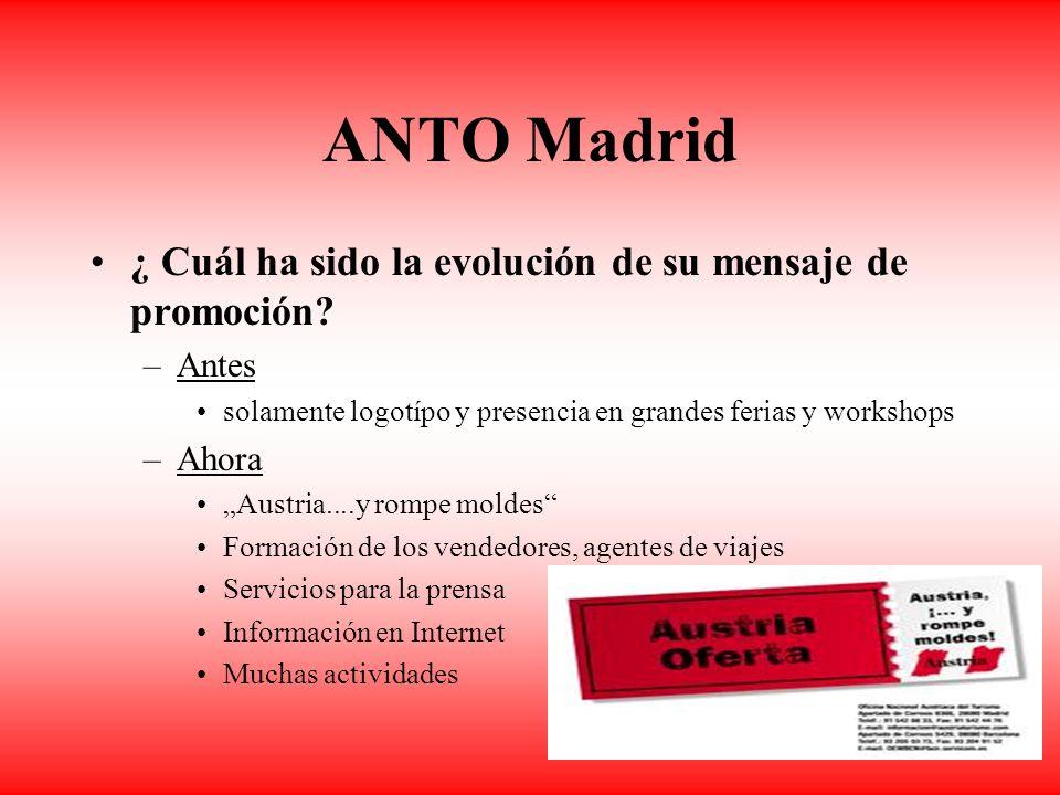 ANTO Madrid ¿ Cuál ha sido la evolución de su mensaje de promoción