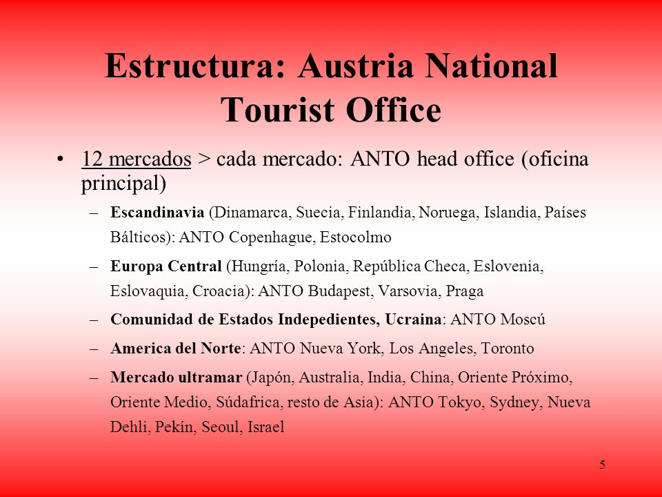 Estructura: Austria National Tourist Office
