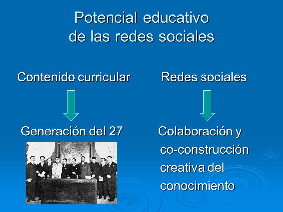 Potencial educativo de las redes sociales