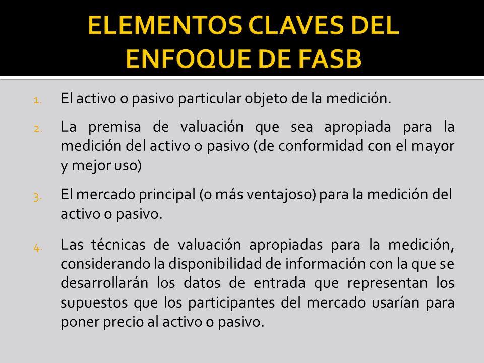 ELEMENTOS CLAVES DEL ENFOQUE DE FASB