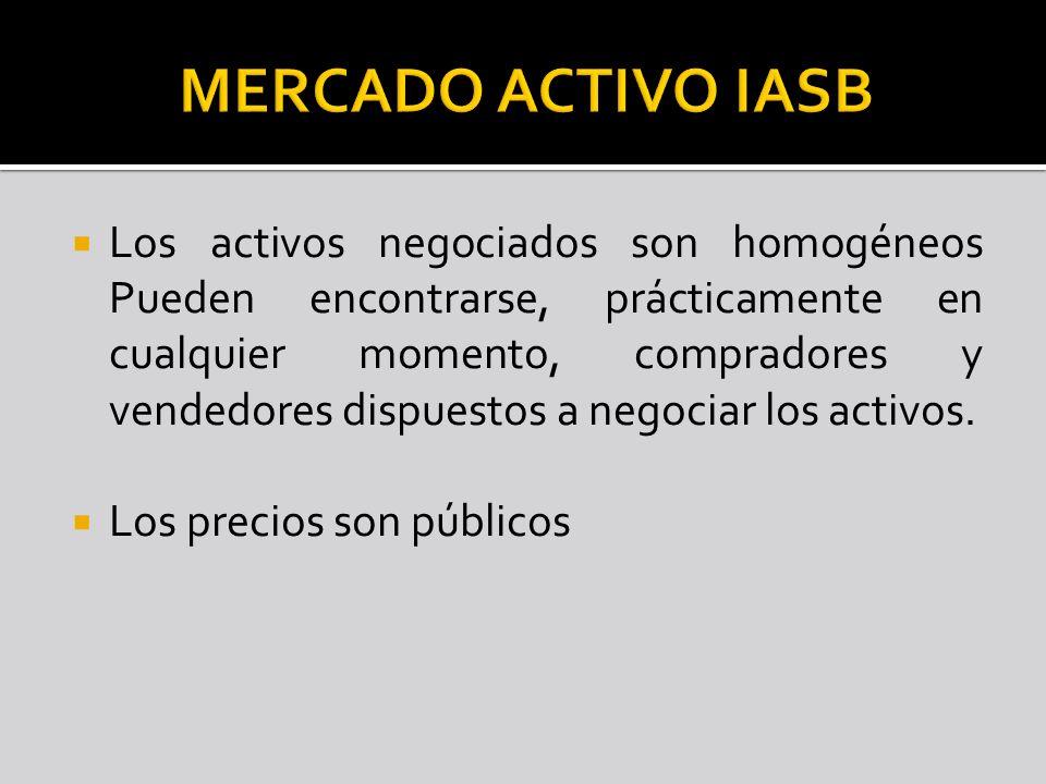 MERCADO ACTIVO IASB