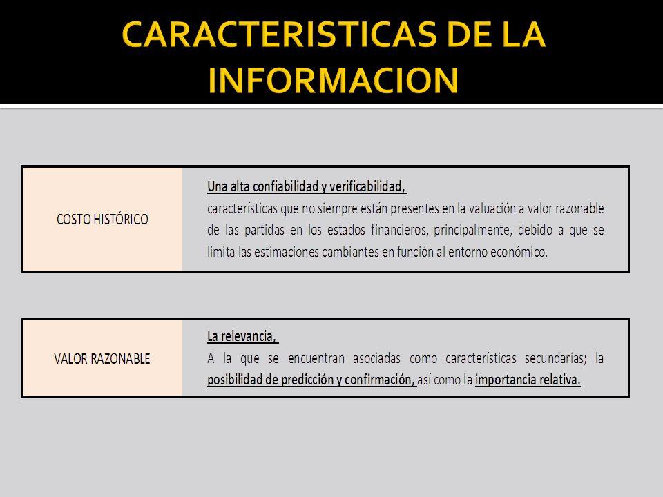 CARACTERISTICAS DE LA INFORMACION