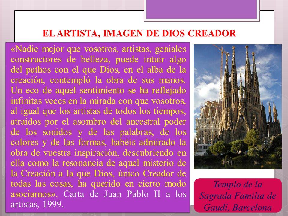EL ARTISTA, IMAGEN DE DIOS CREADOR