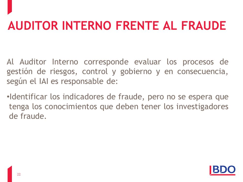 AUDITOR INTERNO FRENTE AL FRAUDE