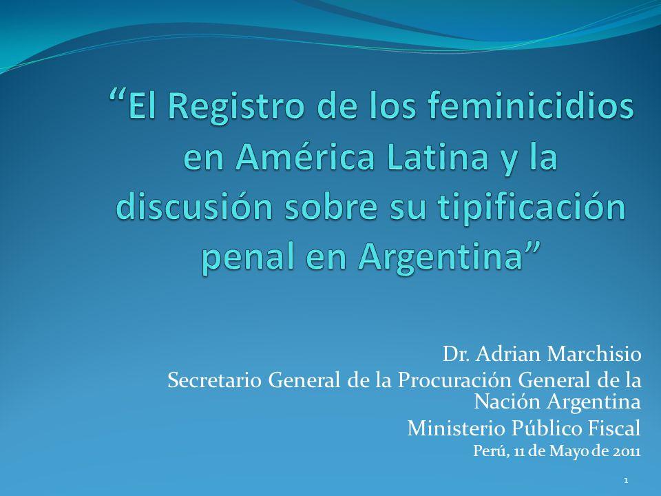 El Registro de los feminicidios en América Latina y la discusión sobre su tipificación penal en Argentina