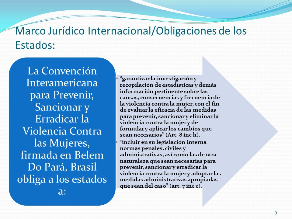 Marco Jurídico Internacional/Obligaciones de los Estados: