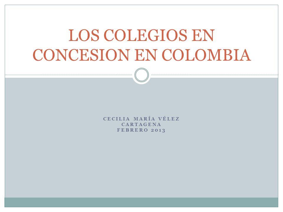 LOS COLEGIOS EN CONCESION EN COLOMBIA