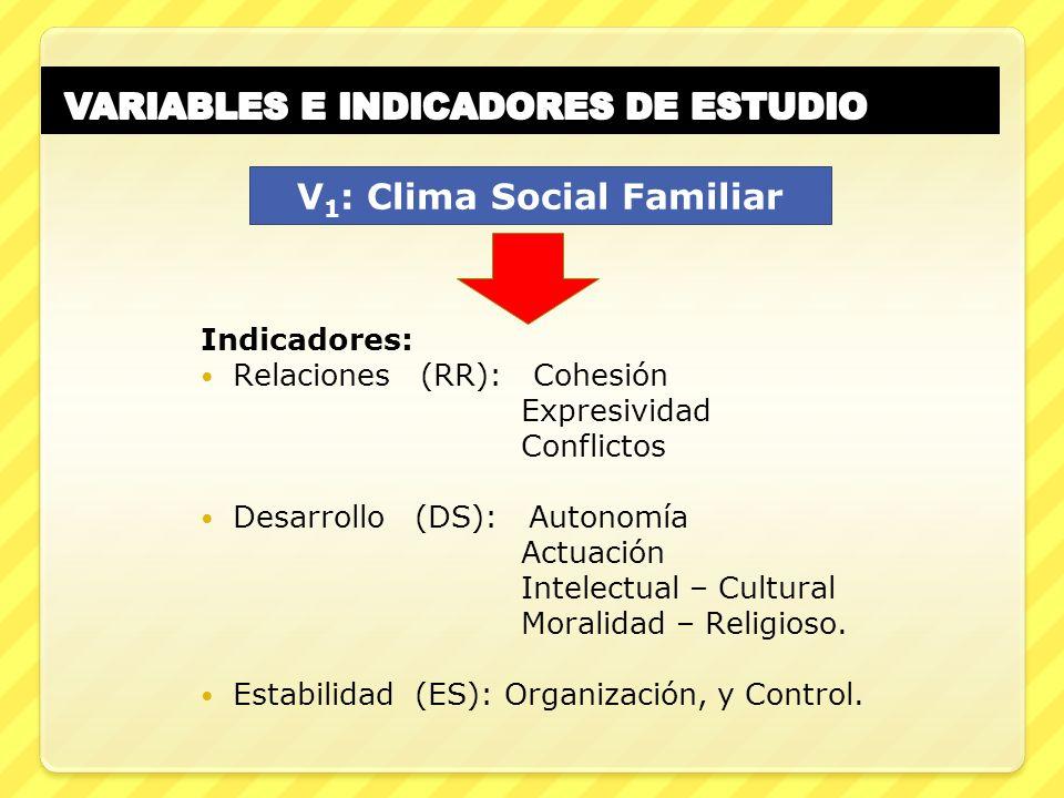 VARIABLES E INDICADORES DE ESTUDIO