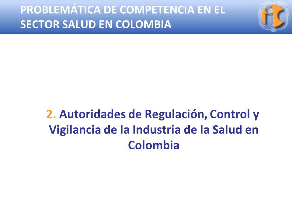 PROBLEMÁTICA DE COMPETENCIA EN EL SECTOR SALUD EN COLOMBIA