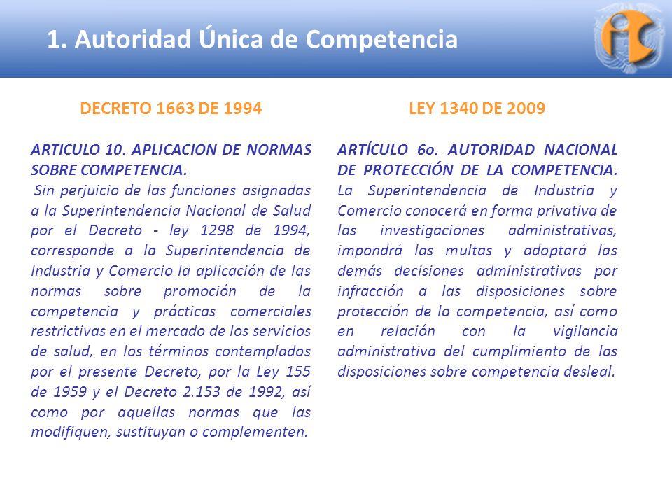 1. Autoridad Única de Competencia