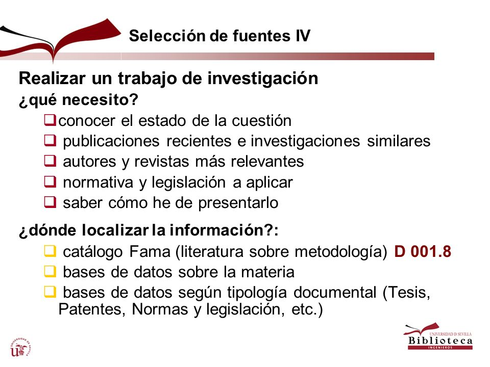 Selección de fuentes IV