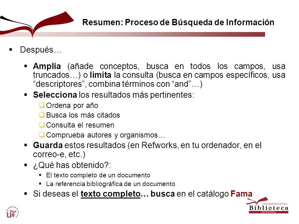 Resumen: Proceso de Búsqueda de Información