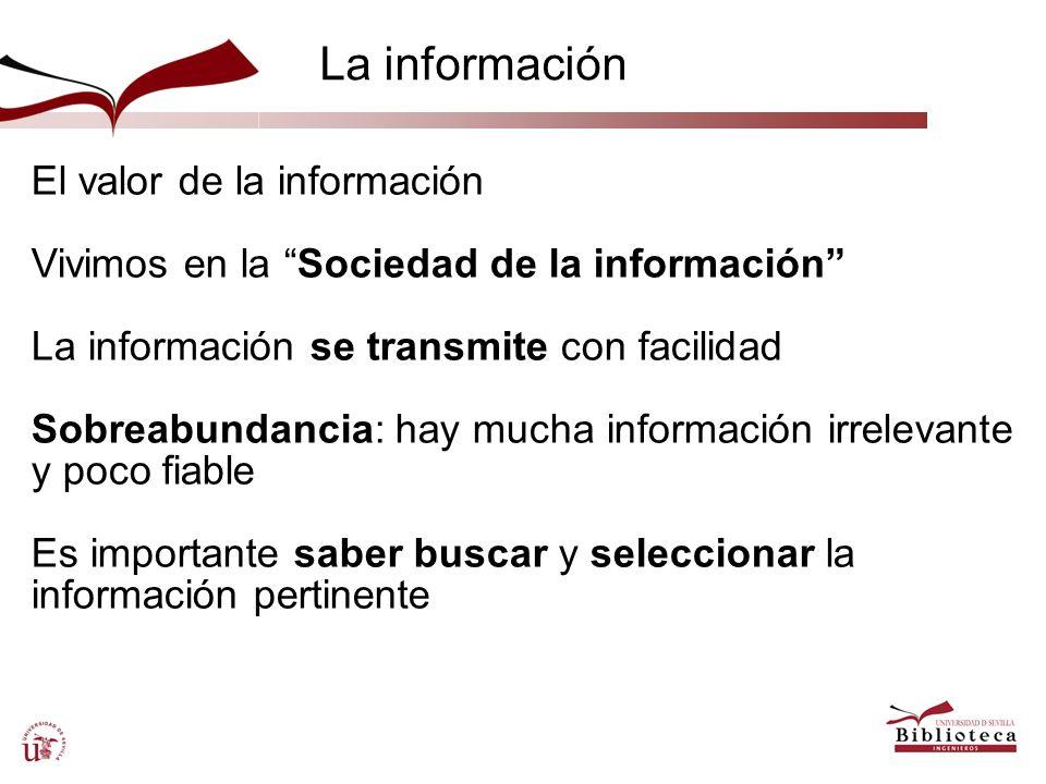 La información El valor de la información