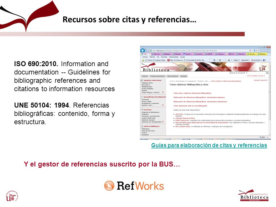 Y el gestor de referencias suscrito por la BUS…