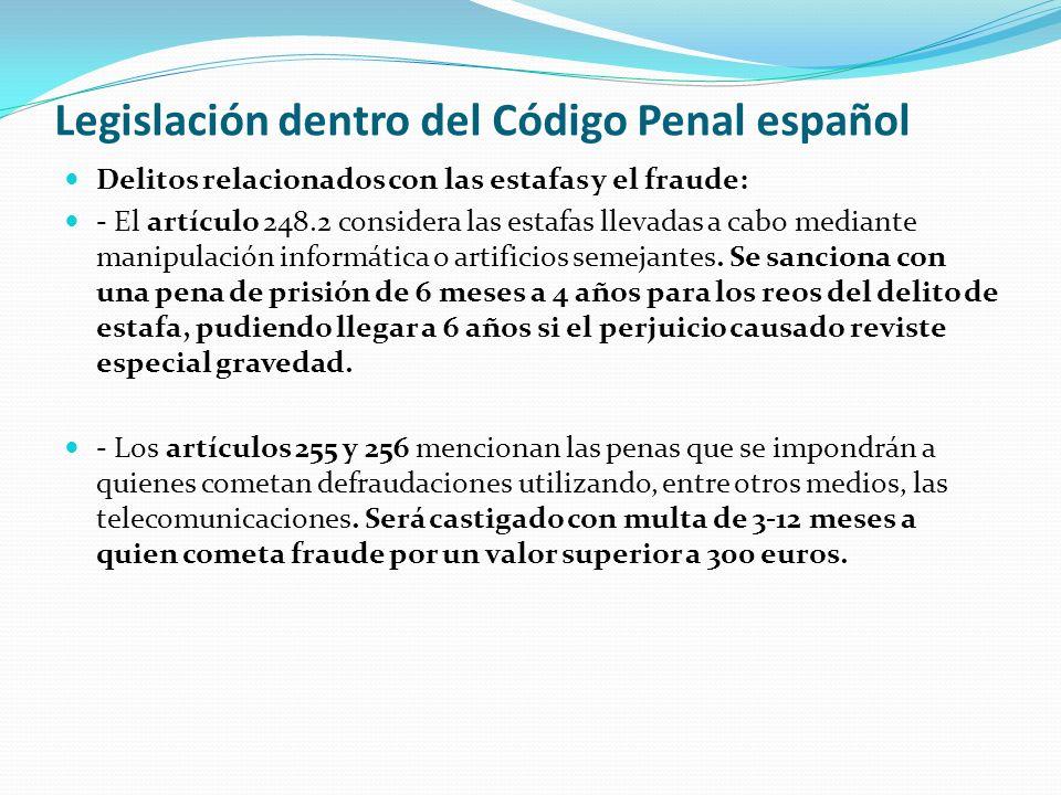 Legislación dentro del Código Penal español