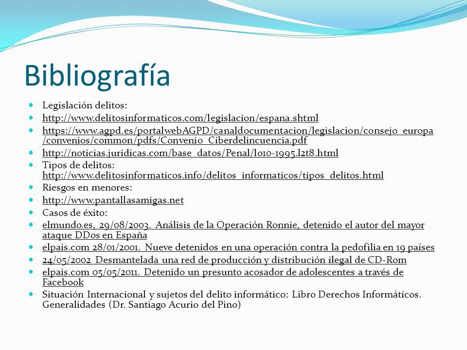 Bibliografía Legislación delitos: