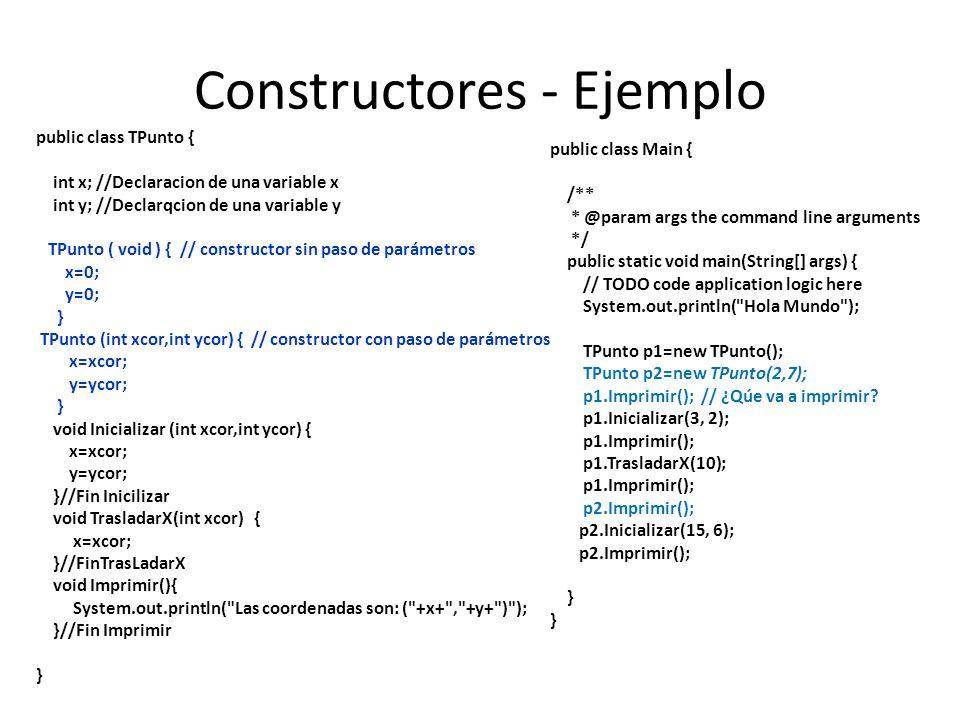 Constructores - Ejemplo