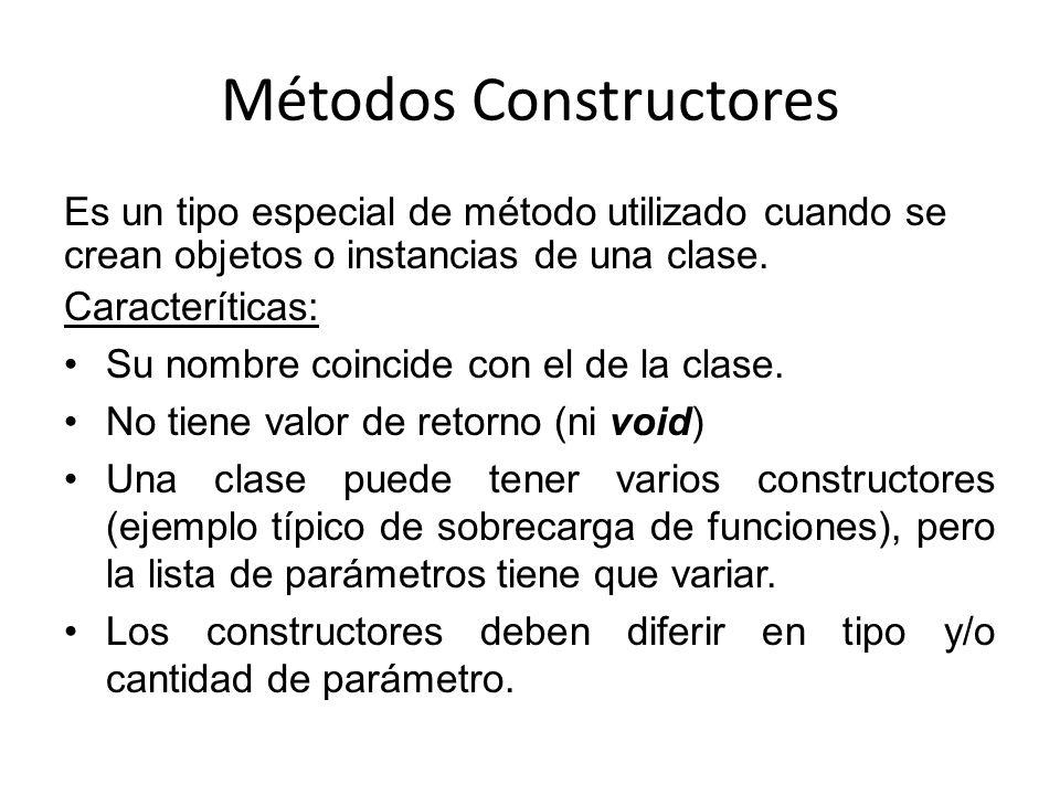 Métodos Constructores